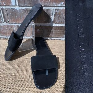 Ralph Lauren Black Flat Sandal 9